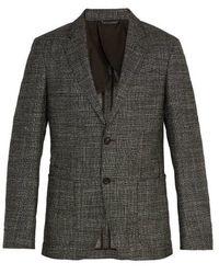 Ermenegildo Zegna - Single-breasted Checked Wool-blend Blazer - Lyst
