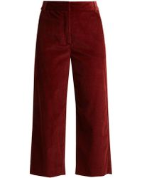 Weekend by Maxmara - Cropped Cotton-corduroy Trousers - Lyst