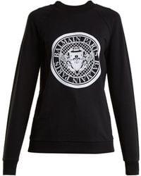Balmain - Logo-print Cotton Sweatshirt - Lyst