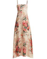 Zimmermann - Laeila Floral-printed Linen Dress - Lyst