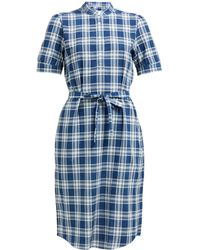 A.P.C. - Clea Checked Shirtdress - Lyst