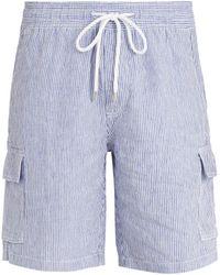 Vilebrequin - Berrix Striped Linen Shorts - Lyst
