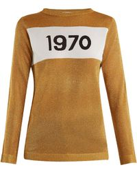 Bella Freud - 1970 Intarsia Knit Sweater - Lyst
