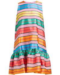 Mary Katrantzou - Ellis Jacquard Striped Organza Mini Dress - Lyst