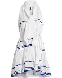 Lisa Marie Fernandez - Rickrack Trimmed Linen Mini Dress - Lyst
