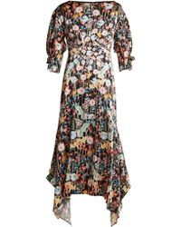 Peter Pilotto - Dandelion Print Silk Dress - Lyst