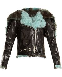 Marques'Almeida - Hooded Shearling-trimmed Leather Jacket - Lyst