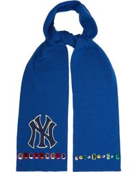 Gucci - Ny Yankees Crystal-embellished Wool Scarf - Lyst