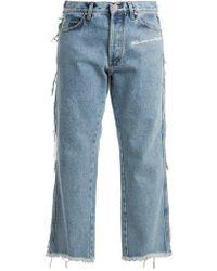 Natasha Zinko - Mid-rise Straight-leg Frayed Jeans - Lyst