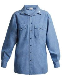 MYAR - Its0a Italian Star-patch Chambray Shirt - Lyst
