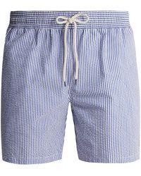 Polo Ralph Lauren | Striped Cotton-blend Seersucker Swim Shorts | Lyst