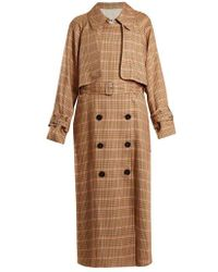 Golden Goose Deluxe Brand - Vela Checked Double-breasted Trench Coat - Lyst