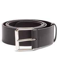 Balenciaga - Logo Print Leather Belt - Lyst