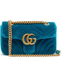 d17caafc8 Gucci Velvet Marmont Belt Bag With Chevron Pattern in Black - Save 22% -  Lyst