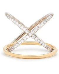 Charlotte Chesnais - Xo Diamond & Gold Ring - Lyst