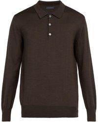 Thom Sweeney - Merino-wool Long-sleeved Polo Shirt - Lyst