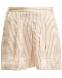 Eres - Riga Striped Seersucker-silk Pyjama Shorts - Lyst