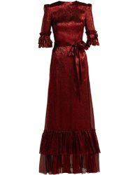 The Vampire's Wife - Veneration Ruffle-trimmed Silk-blend Dress - Lyst