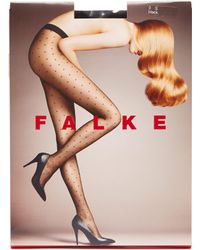 3af05fe1cc0ff Wolford Oval Polka Dot Tights in Black - Lyst