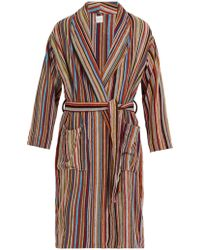 Paul Smith - Signature Stripe Cotton Bathrobe - Lyst