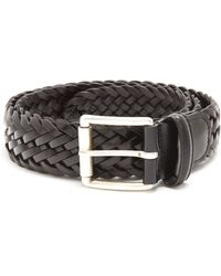 Andersons - Woven Leather Belt - Lyst
