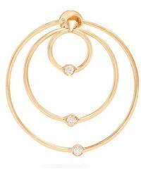 Diamond & yellow-gold hoop single earring Delfina Delettrez Free Shipping Latest Sale Best Store To Get Cheap Sale Great Deals GffM9YveK
