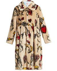 Shrimps - Eilis Printed Faux-fur Coat - Lyst