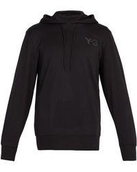 Y-3 - Logo Printed Hooded Sweatshirt - Lyst