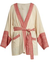 Mes Demoiselles - Gwen Embroidered-trim Cotton Jacket - Lyst