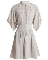 Chloé - Point-collar Silk Shirtdress - Lyst