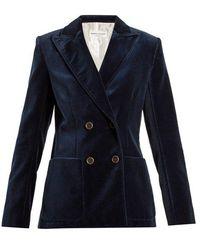 Sonia Rykiel - Double-breasted Cotton-velvet Jacket - Lyst