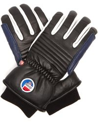 Fusalp - Askel Ribbed Leather Ski Gloves - Lyst