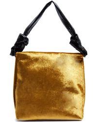 The Row - Wander Small Velvet And Python Shoulder Bag - Lyst
