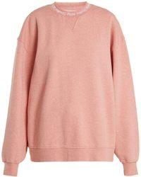 Acne Studios - Yana Oversized Cotton Sweatshirt - Lyst