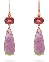 Irene Neuwirth - 18kt Rose Gold And Tourmaline Drop Earrings - Lyst