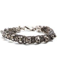 Emanuele Bicocchi - Skull-embellished Sterling-silver Bracelet - Lyst