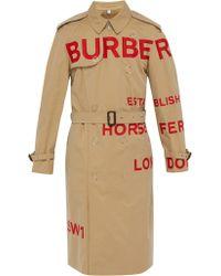 Burberry Trench-coat en gabardine de coton Wharbridge - Multicolore