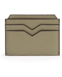 Valextra - Grained Leather Cardholder - Lyst