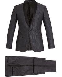 Dolce & Gabbana | Two-piece Jacquard Silk-wool Suit | Lyst