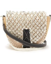 JW Anderson - Bike Small Macramé And Leather Cross Body Bag - Lyst