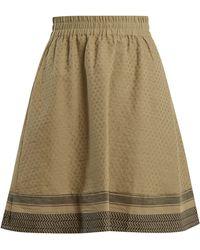 Cecilie Copenhagen - Villablack Scarf Jacquard A Line Cotton Skirt - Lyst