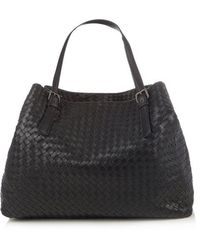 Bottega Veneta - Intrecciato Large Leather Tote - Lyst
