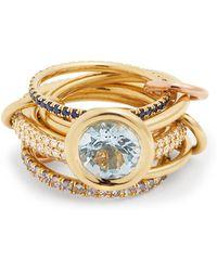 Spinelli Kilcollin | Rana Diamond, Yellow-gold & Rose-gold Rings | Lyst