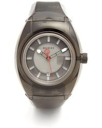 Gucci | Sync Black Rubber Watch | Lyst