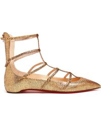 Christian Louboutin - Toerless Muse Leather Flats - Lyst