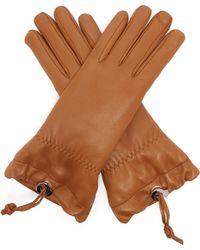 Jil Sander - Drawstring Leather Gloves - Lyst
