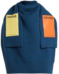 Raf Simons - Sweater-inspired Appliqué-patch Wool Scarf - Lyst