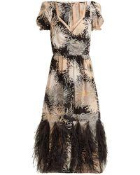 N°21 - Chrysanthemum-print Silk Dress - Lyst