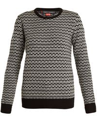 Perfect Moment - Frequency Zigzag-intarsia Wool Jumper - Lyst