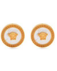 Versace - Tribute Mother-of-pearl Earrings - Lyst
